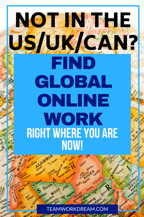 Where Can I find International Online Jobs so that I can Work from Home Anywhere in the World?