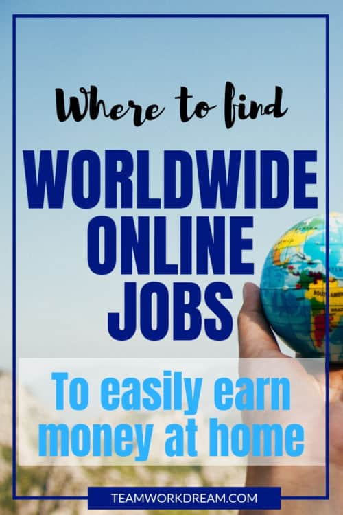 Worried that you can't find online work where you are? Try these 4 freelancing platfomrs to easily find International Online Jobs no matter where you are in the world. Make money from the comfort of your home by remote working. #remoteworking #internationalonlinejobs #workfromhomejobs