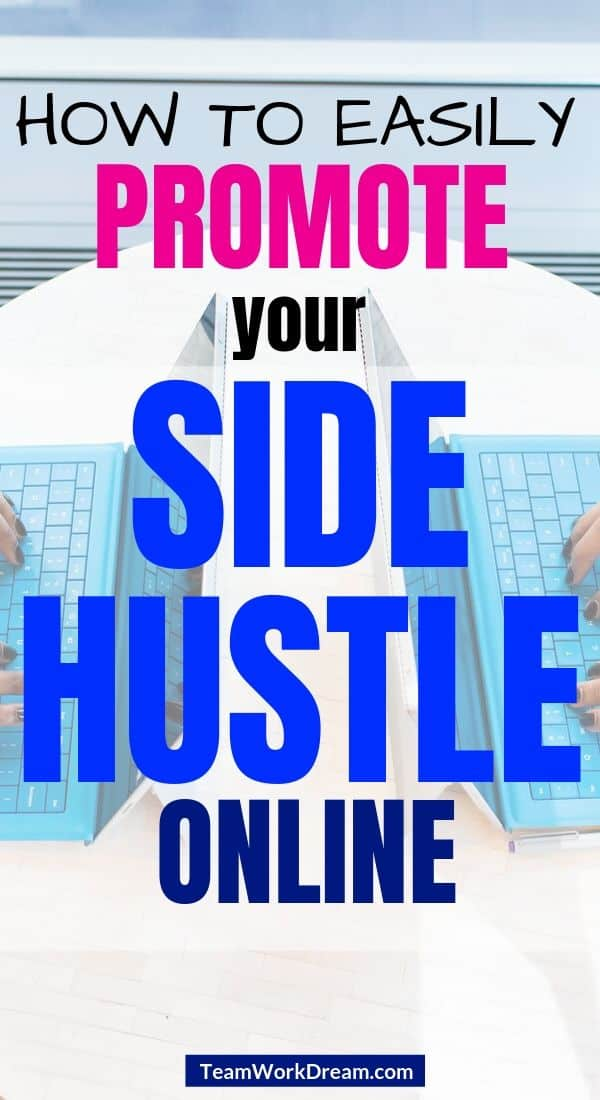 women side by side promoting their onliine side hustles