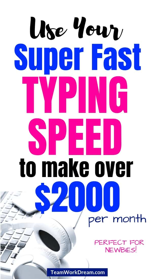 Use your typing skills to make money online doing transcription. Find out which of the 5 companies or online platforms allow newbies to do transcription easily. Start working from home just with the skill of good listening and great typing. #workfromhomejobs #transcriptionskills #makemoneyonline #earnextracash #sidehustle #makemoneyfromhome