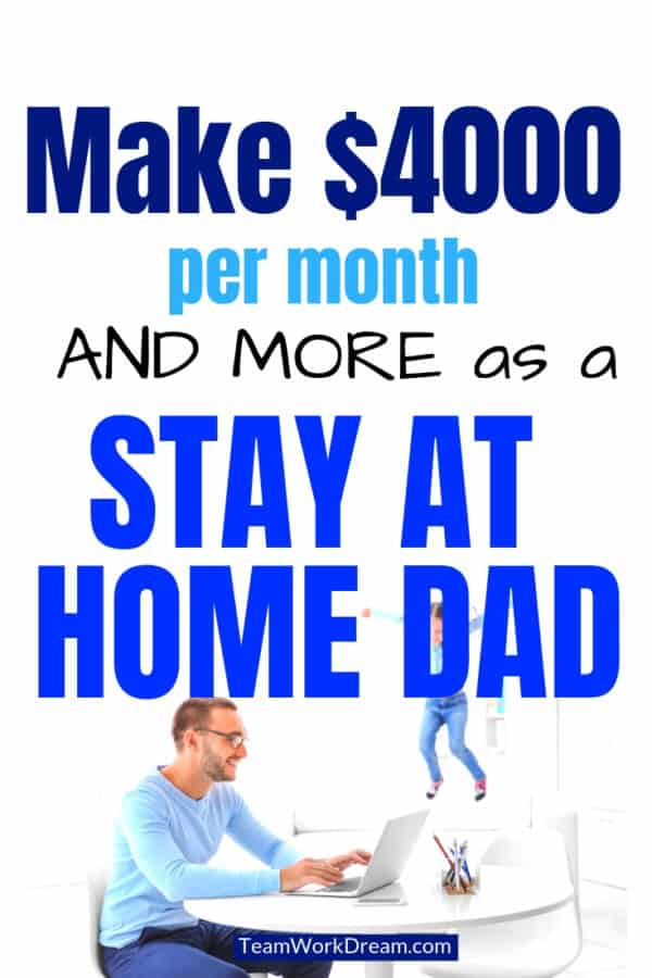 Find out how men can easily do a work from home job and earn a full-time income. No more commute. Find creative ways to make money online by doing a variety of jobs or creating your own work from home job. #makemoneyonline #jobsformen #earnextracash #workfromhomejobs
