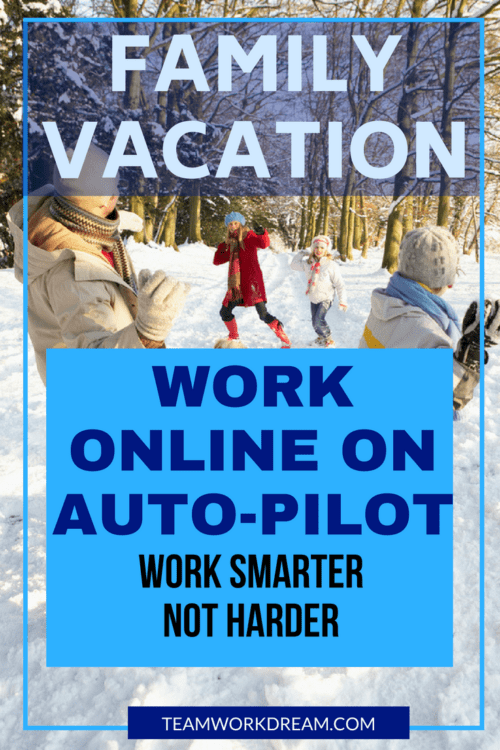 How to work online when on family working vacations