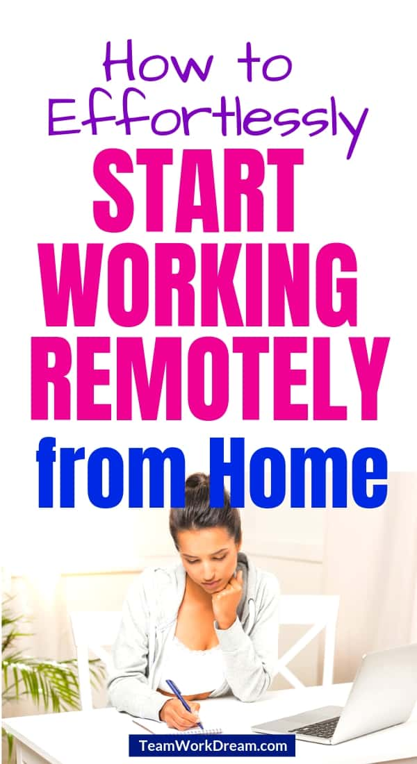 Find out about the simple things you can do to start working remotely from home. Learn what the benefits of working remotely are by carefully researching work from home jobs that are legitimate. Whether you're looking for entry-level remote jobs or ones for the more experienced. follow the right steps to start your work from home business and start making a full-time income. #workingremotely #workfromhomejobs #earnmoneyathome #makemoneyonline