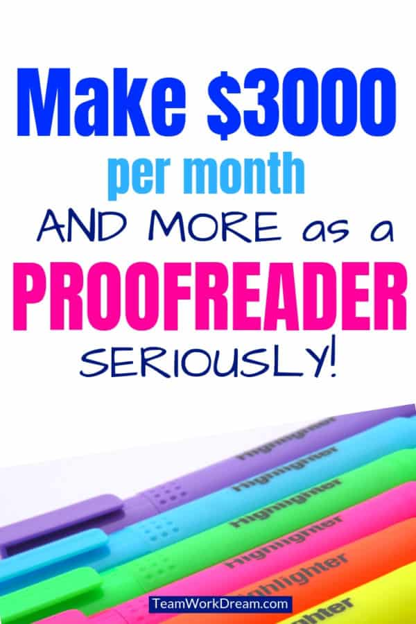 Make money proofreading from home