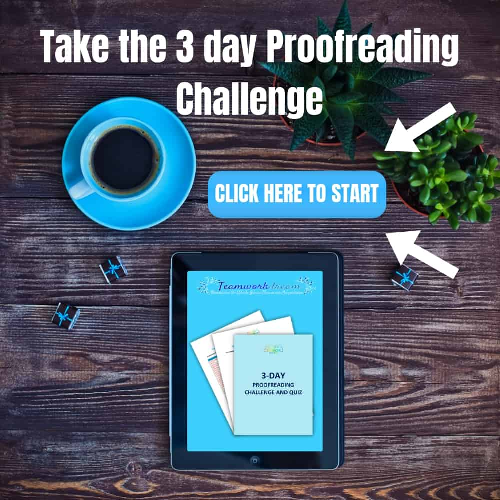 Proofreading Challenge, proofreading tips, proofreading ideas