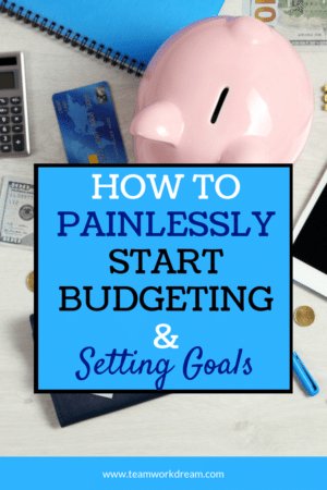accessories for setting up saving and budgeting goals