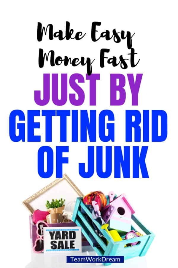 Check out these easy ways to make money fast. Start clearing out your clutter to make some super quick cash. #makemoneyfromhome #earnmoneyathome #earnmoneyonline #makemoneyonline
