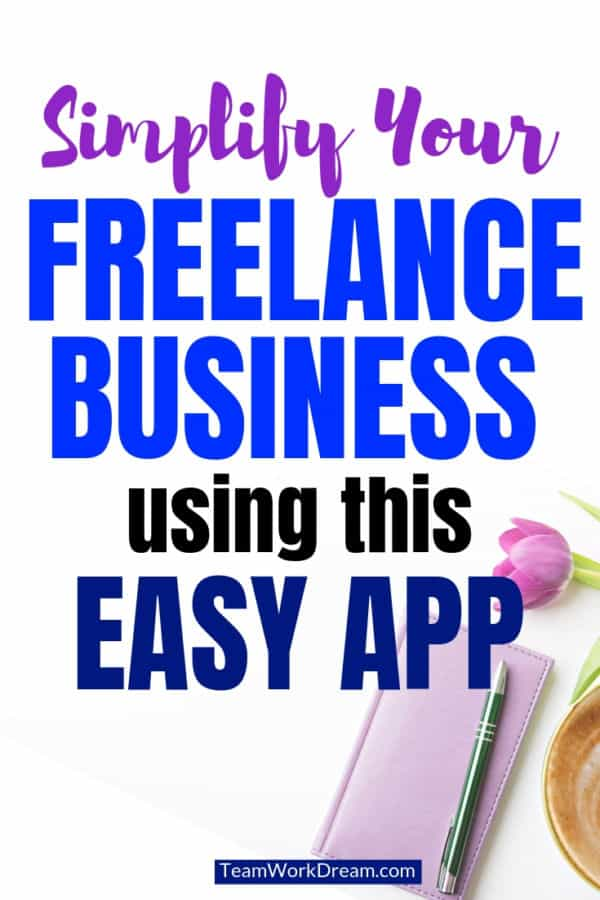 Make a success out of your freelancing business ideas. Start wto work from home in an organized way by using this simple app to streamline your freelancing work from home business. #workfromhome #freelancingbusiness #workfromhomeideas #makmoneyonline #earnmoneyfromhome