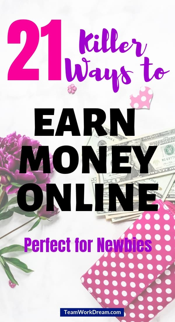 Want to know how to make money fast today? Start using these creative ways to make money online now. Choose any one of these simple methods to start earning money online. Perfect opportunities for newbies to make money as a side hustle or as a full-time income just by working online from home or anywhere. Find great online income opportunities. #earnmoneyonline #makemoneyonline #makeextracash #workfromhomeideas #creativewyastomakemoney #affiliatemarketingopportunities