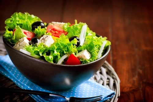 Greek Salad perfect for the Ketogenic Diet