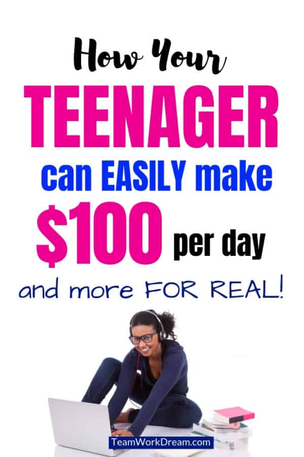 Find out how your teenager can do work from home jobs in their spare time and make money online. Earn extra cash as a teenager to buy what you need by doing online work. #workfromhomejobs #makemoneyonline #earnextracash #teenager #extracash #makemoneyfromhome