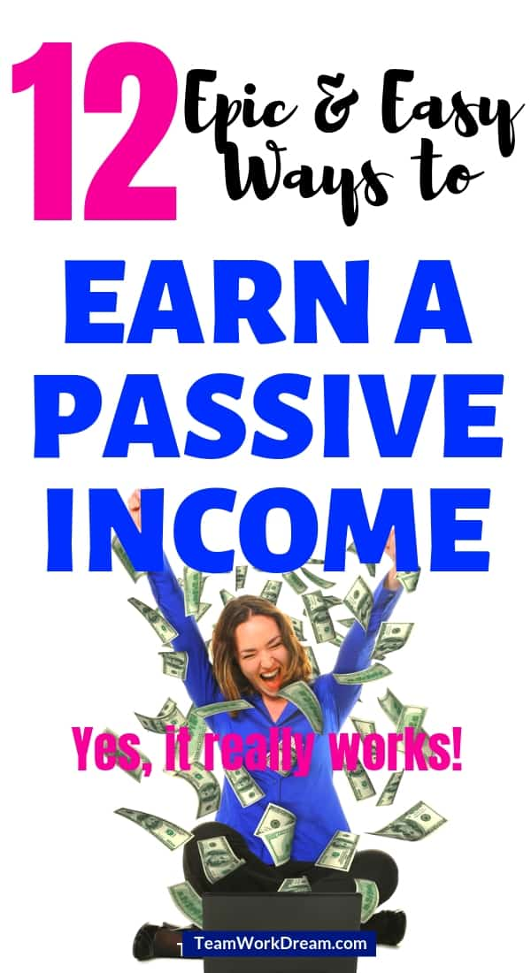Start to earn a passive income by using simple passive income strategies to make money online. Find out how to make money while you sleep by using simple passive income side hustle ideas to make extra cash. #makemoneyonline #passiveincomeideas #passiveincometips #affiliatemarketingideas #earnpassiveincome