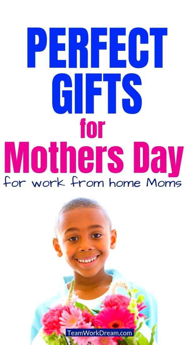 Best Mothers Day Gift Ideas boy giving gift of flowers
