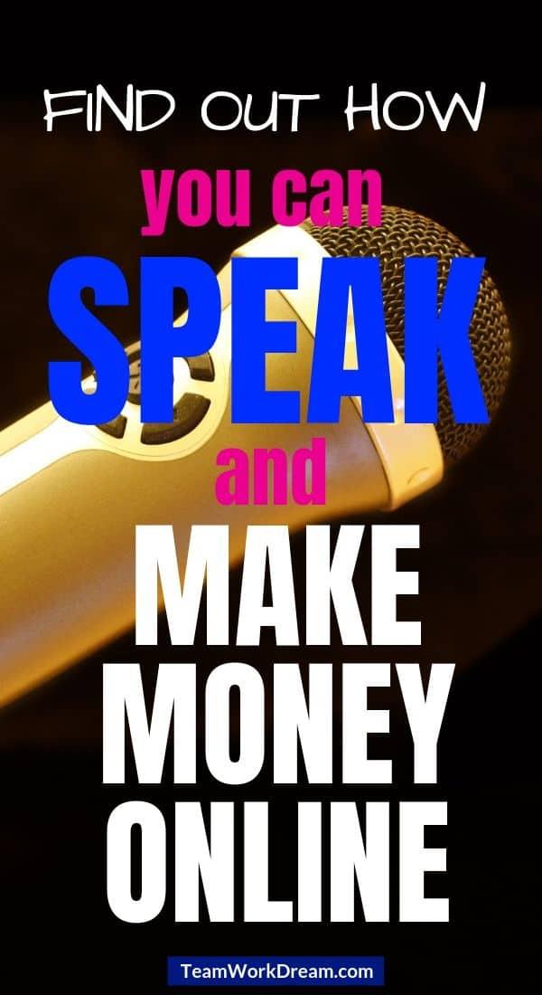 make money online a voice over artist