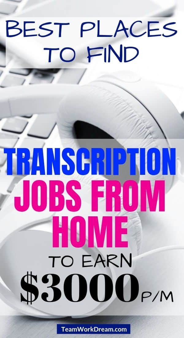 audio transcription jobs from home equipment