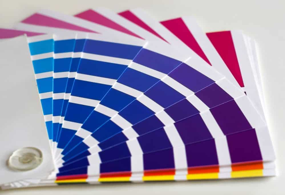 Print on demand color swatches