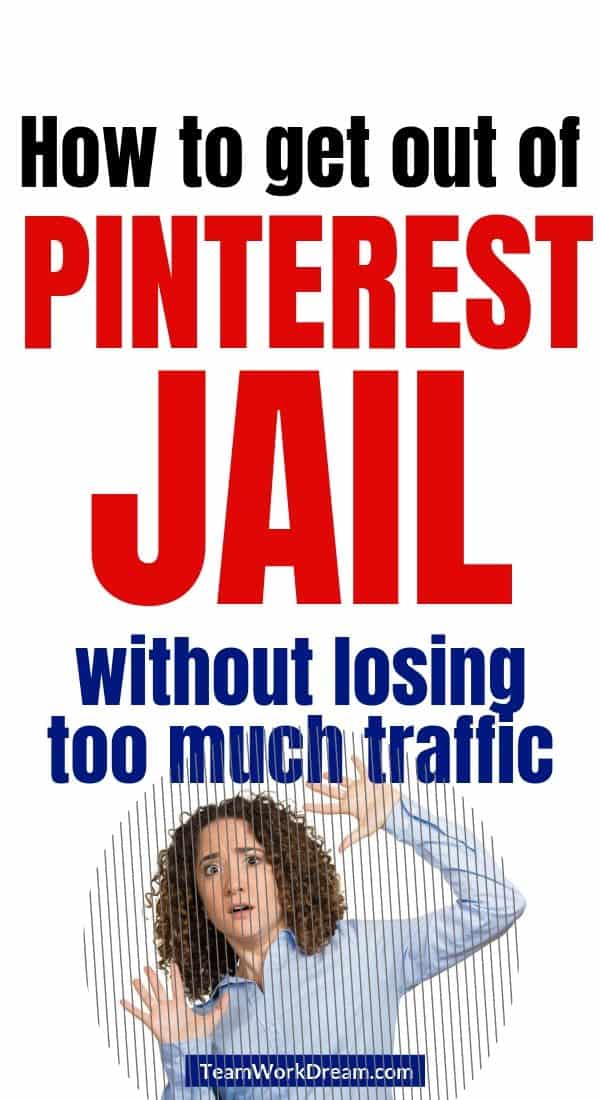 woman who has has been pinterest spam block trying to get out of pinterest jail