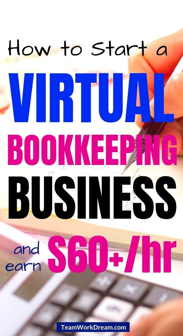 man learning how to start a virtual bookkeeping business using calculator