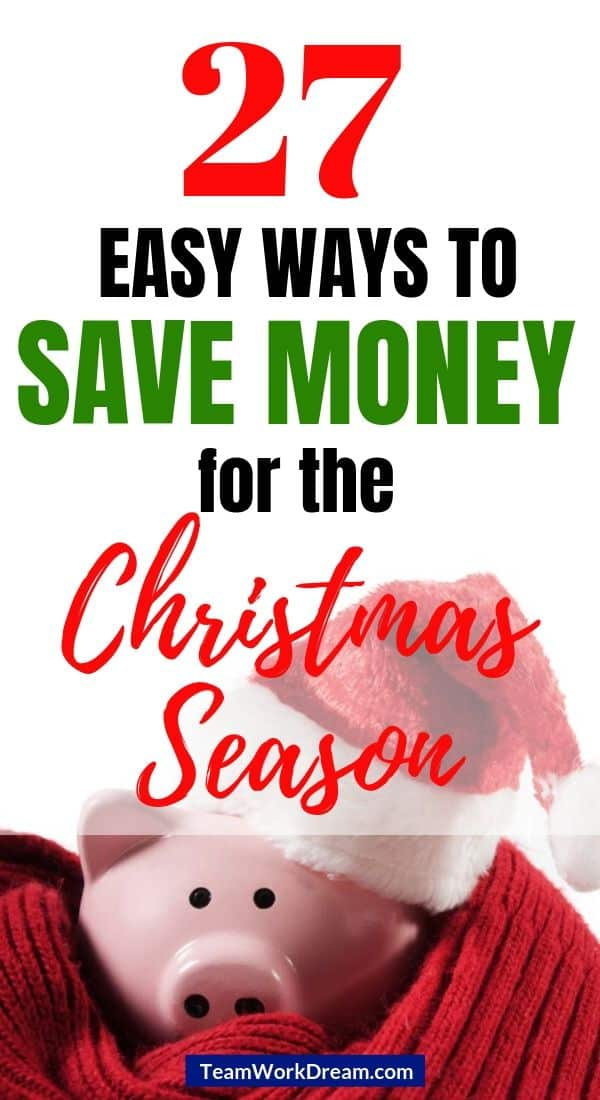 christmas saving piggy bank ways to save money