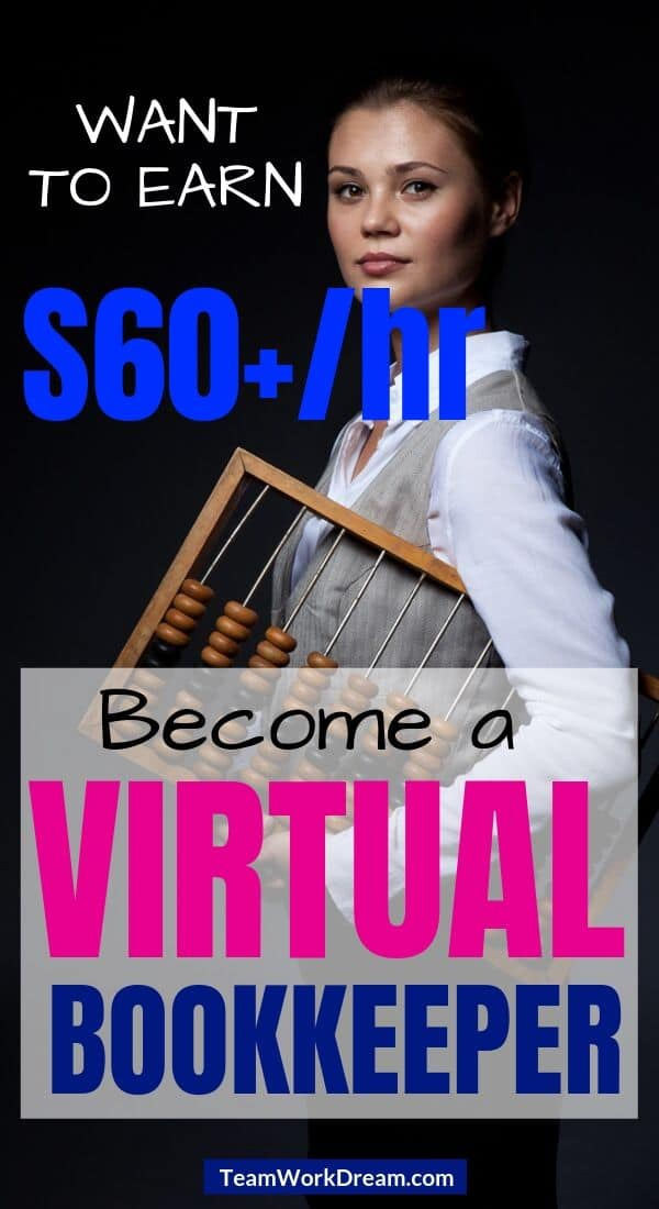 Woman with abacus learning how to start a virtual bookkeeping business