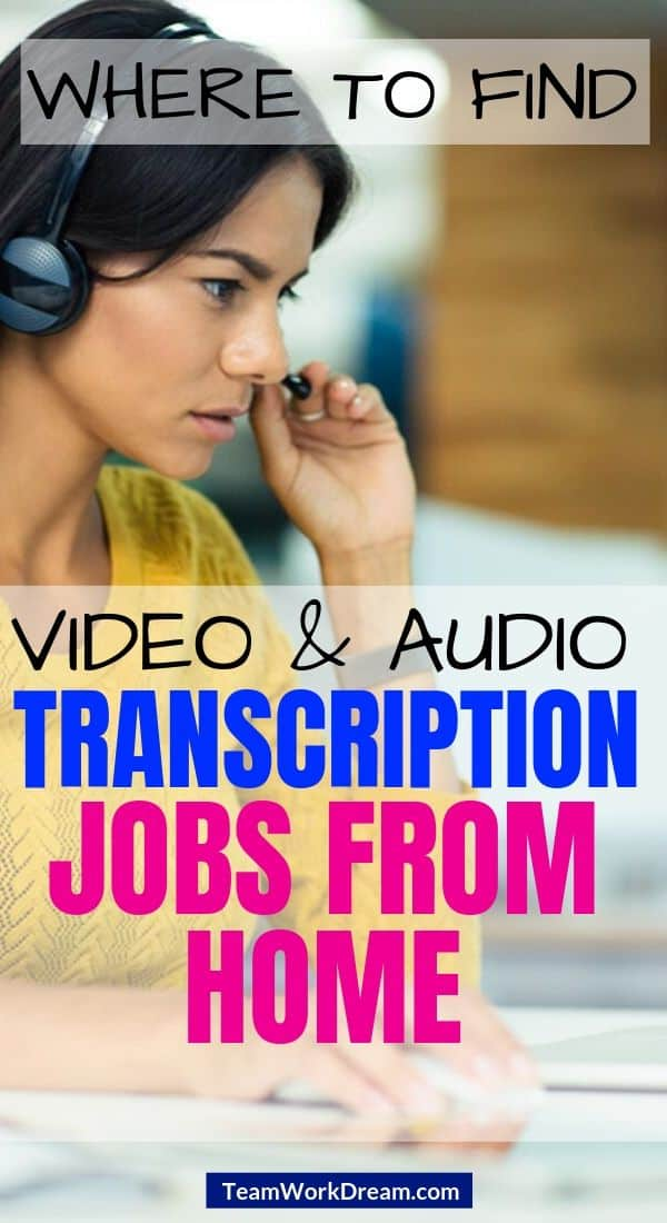 Woman providing audio transcription job from home service