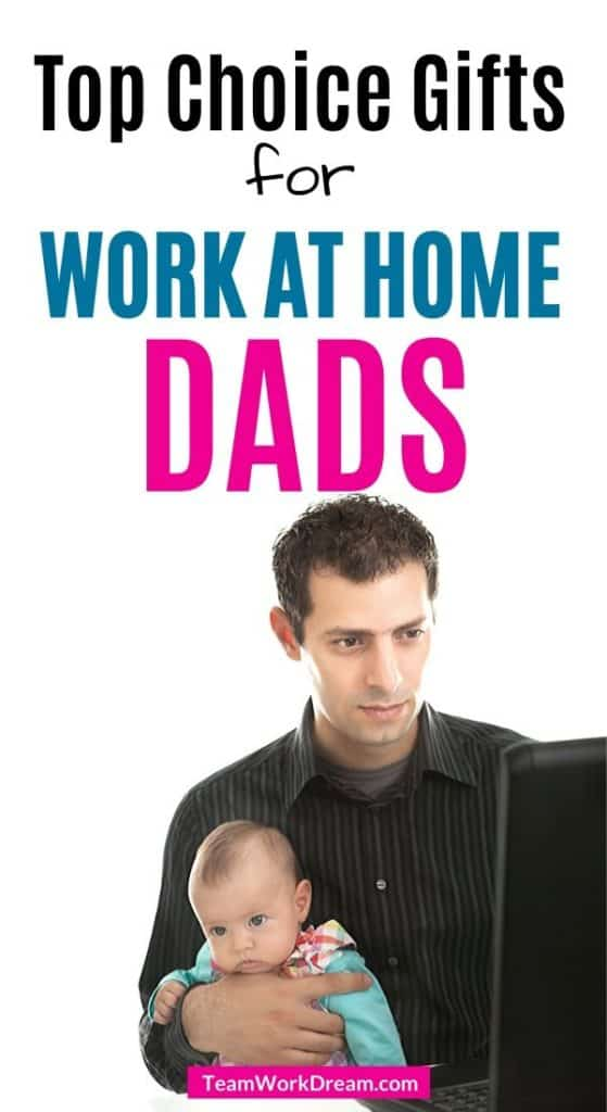 work from home dad on alptop with baby on his lap