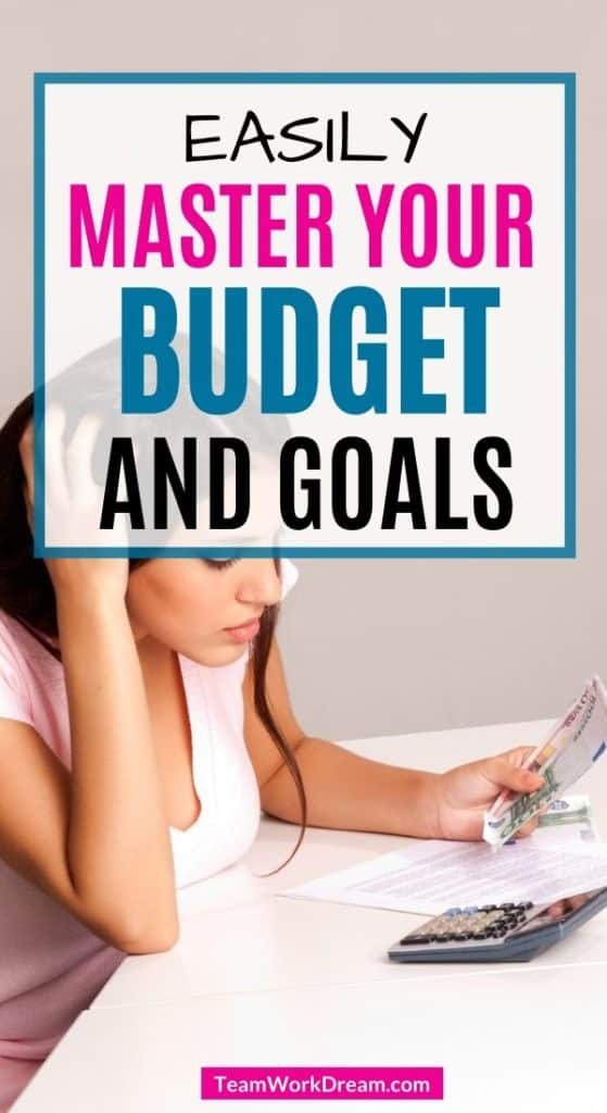 woman setting budget and goals for the year