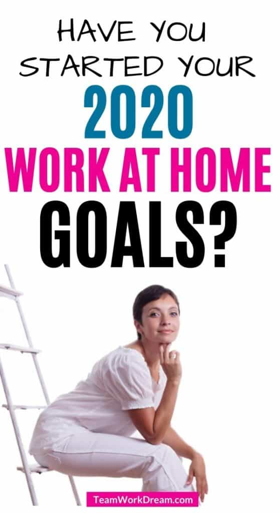 woman planning work at hom goals