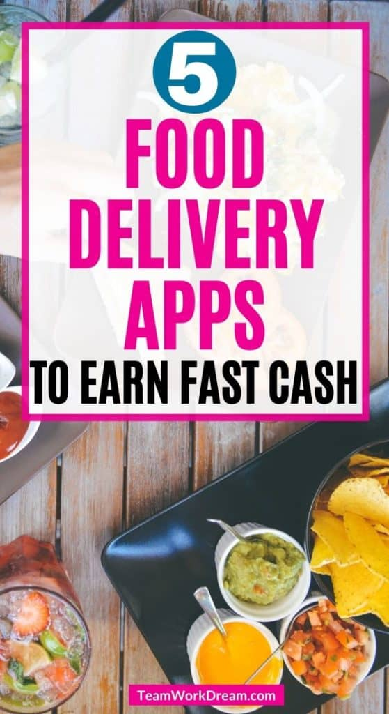 Table served from food delivery side hustle business