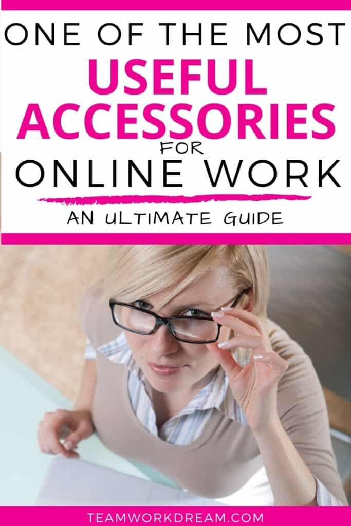 Woman working from laptop wearing the best blue light blocking glasses for online work