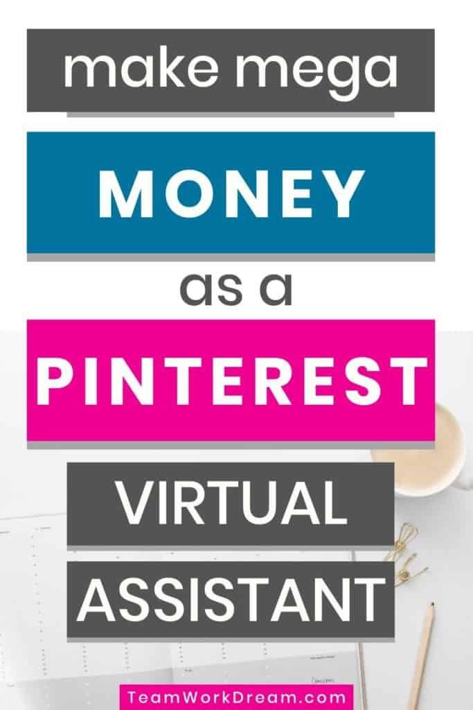 Make money with Pinterest virtual assistant jobs