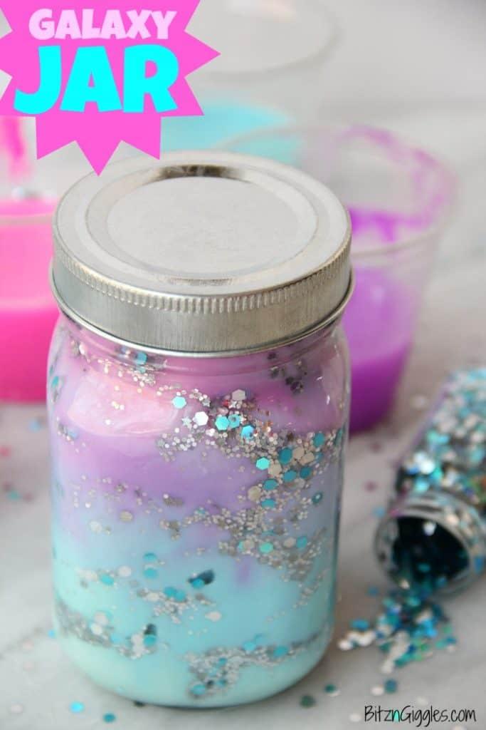 indoor activity of diy galaxy jar