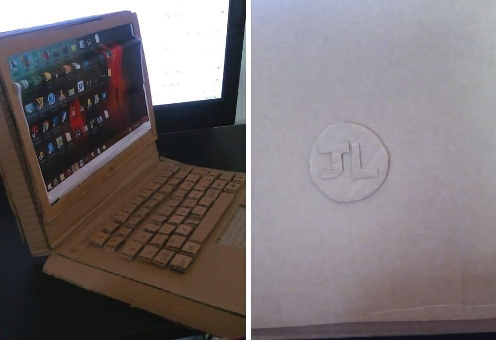 cardboard laptop creative idea