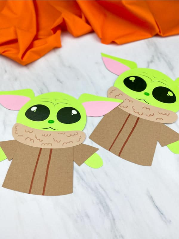 starwars craft baby yoda made for indoor kids activities