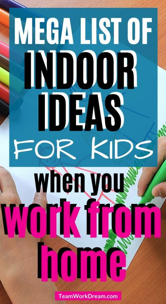 Picture of child drawing for indoor activity for kids ideas