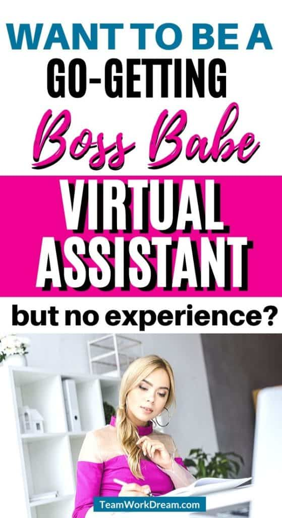 Woman learning how to become a virtual assistant with no experience.