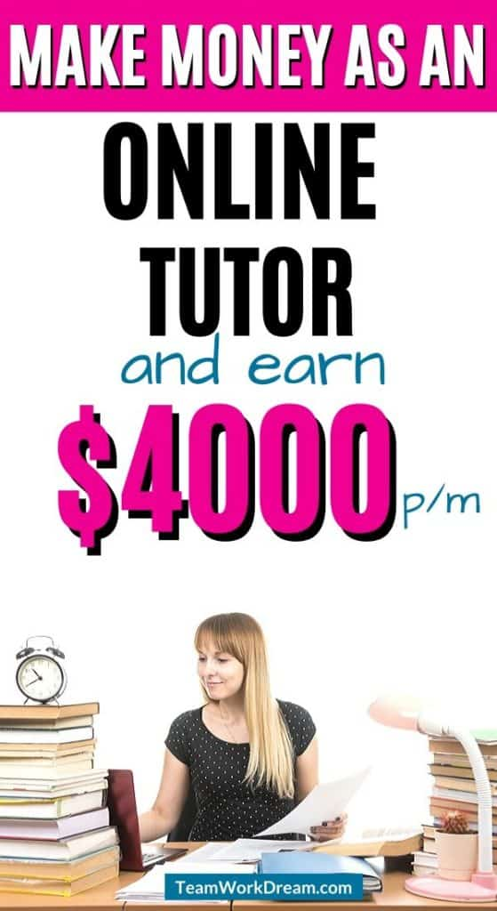 Teacher working online as an online tutor by signing up to some of the best online tutoring jobs.