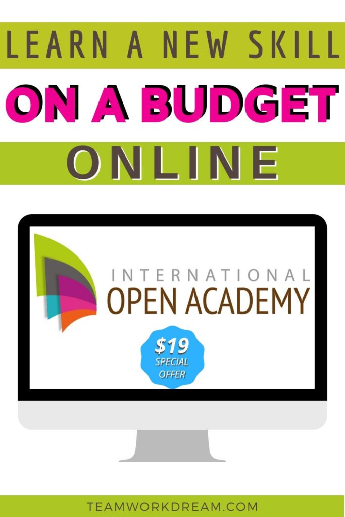 Learn a new skill on the International Open Academy online learning platform.