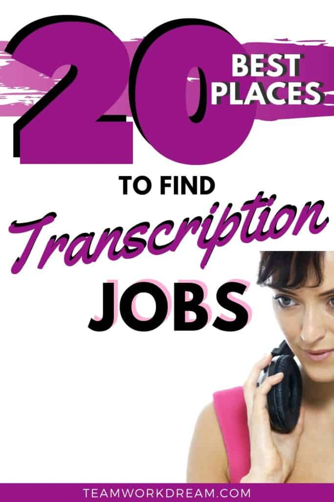 Best places to find audio transcription jobs locally