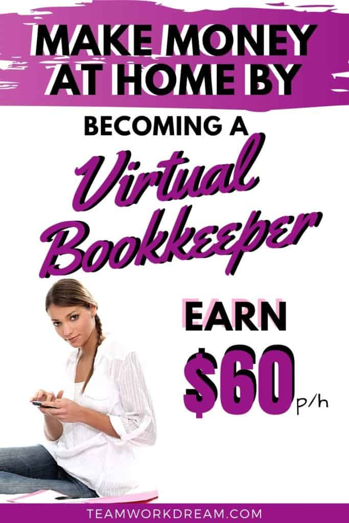 Woman Making Money at Home by starting a virtual bookkeeping business