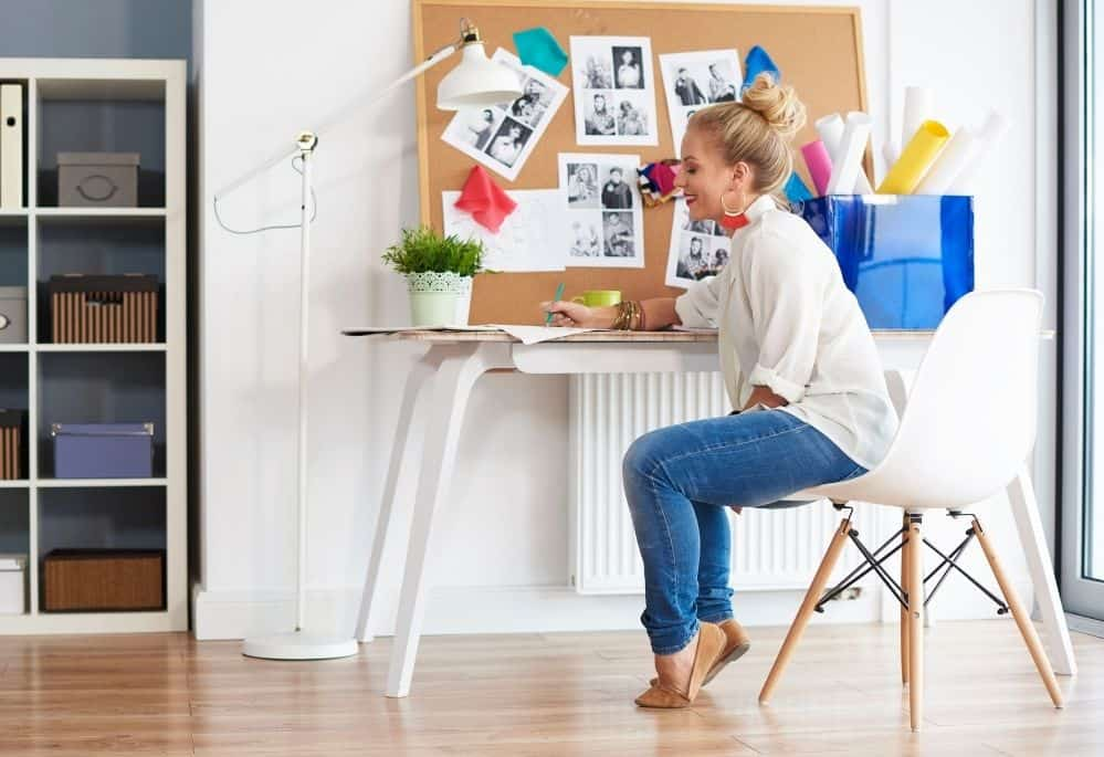 Create a vision board for work at home success