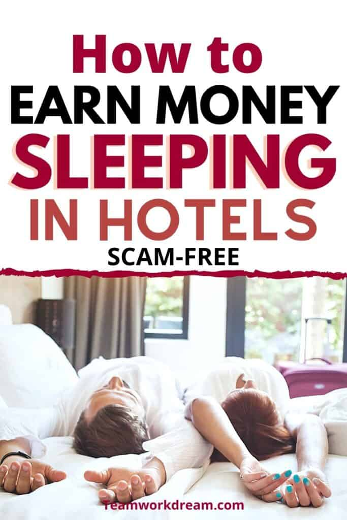 Couple working as hotel mystery shoppers and earning money as a side hustle.