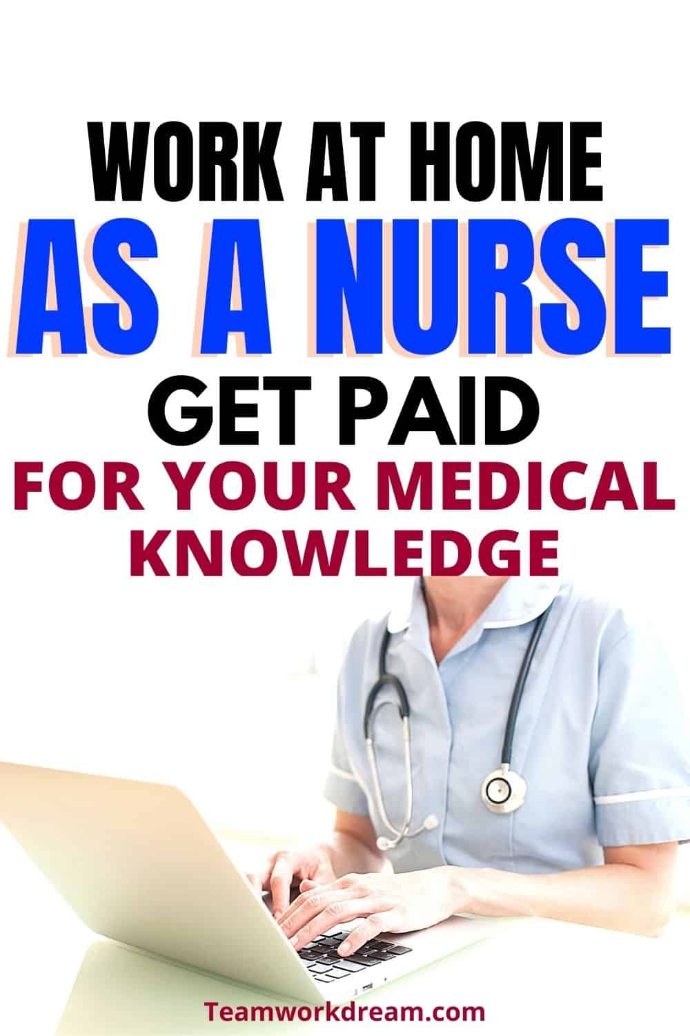 woman working from home as a nurse