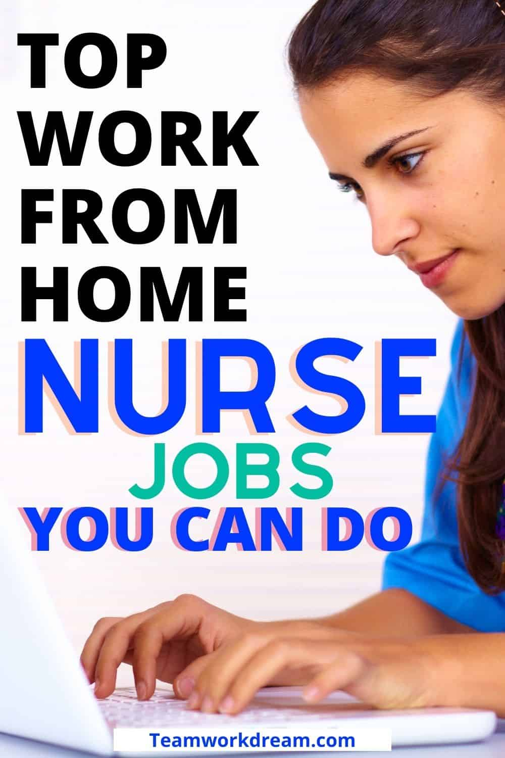 woman working as nurse at home on her laptop